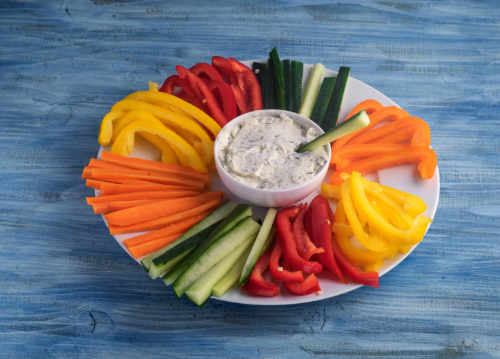 Colorful vegetable sticks