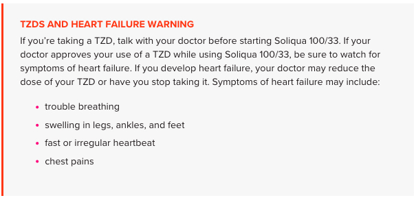 TZDS and Heart Failure Warning
