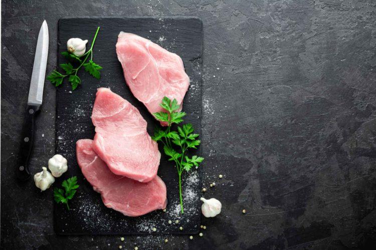 Raw turkey meat.